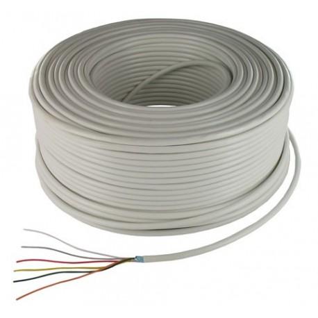 Câble d'alarme souple 6X0,22 mm² blanc